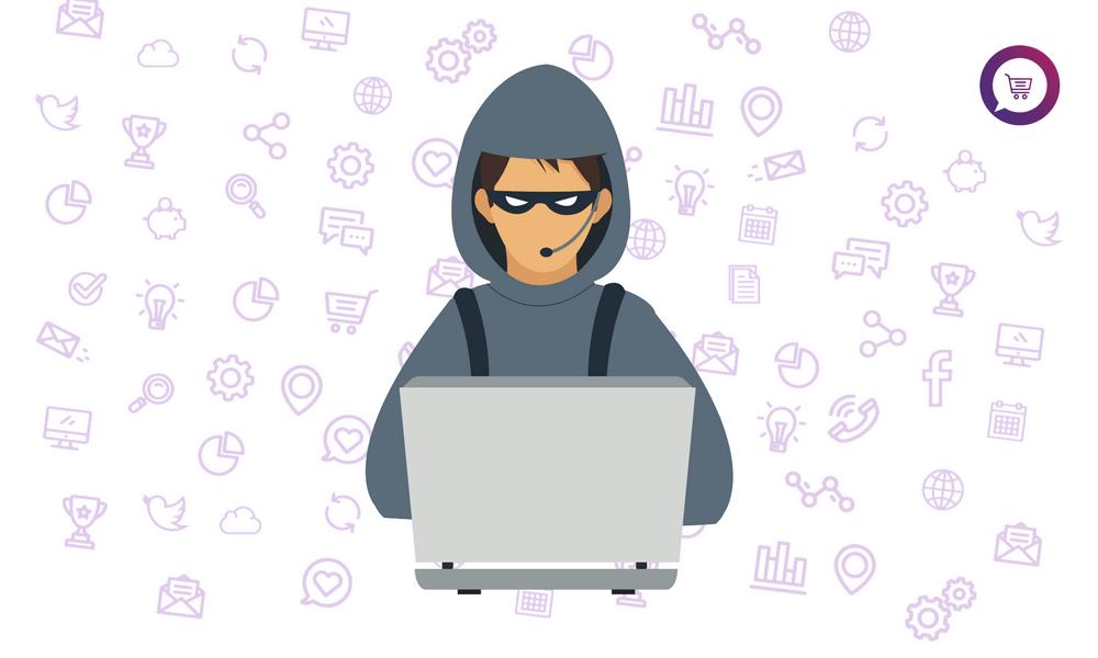 eviter fraude a la carte ecommerce image hackeur
